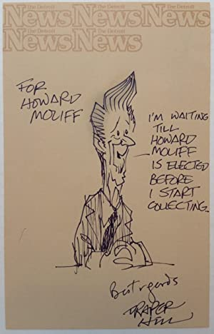 Original Signed Cartoon of Ronald Reagan