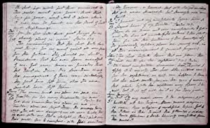 A substantial Manuscript Journal of almost daily thoughts of a devout Christian covering a 3 year ...