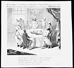 The true Effigies of the Members of the Calve's Head Club, Held on ye 30th of January 1734, at...
