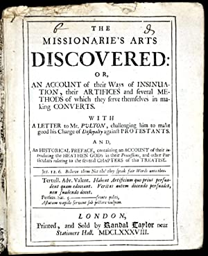 The Missionarie's Arts Discovered: or, An Account: WAKE, William)