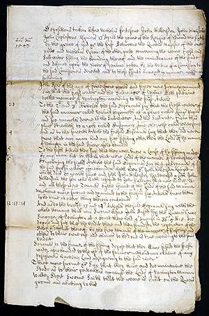Manuscript Deposition with Judgement, written in English,