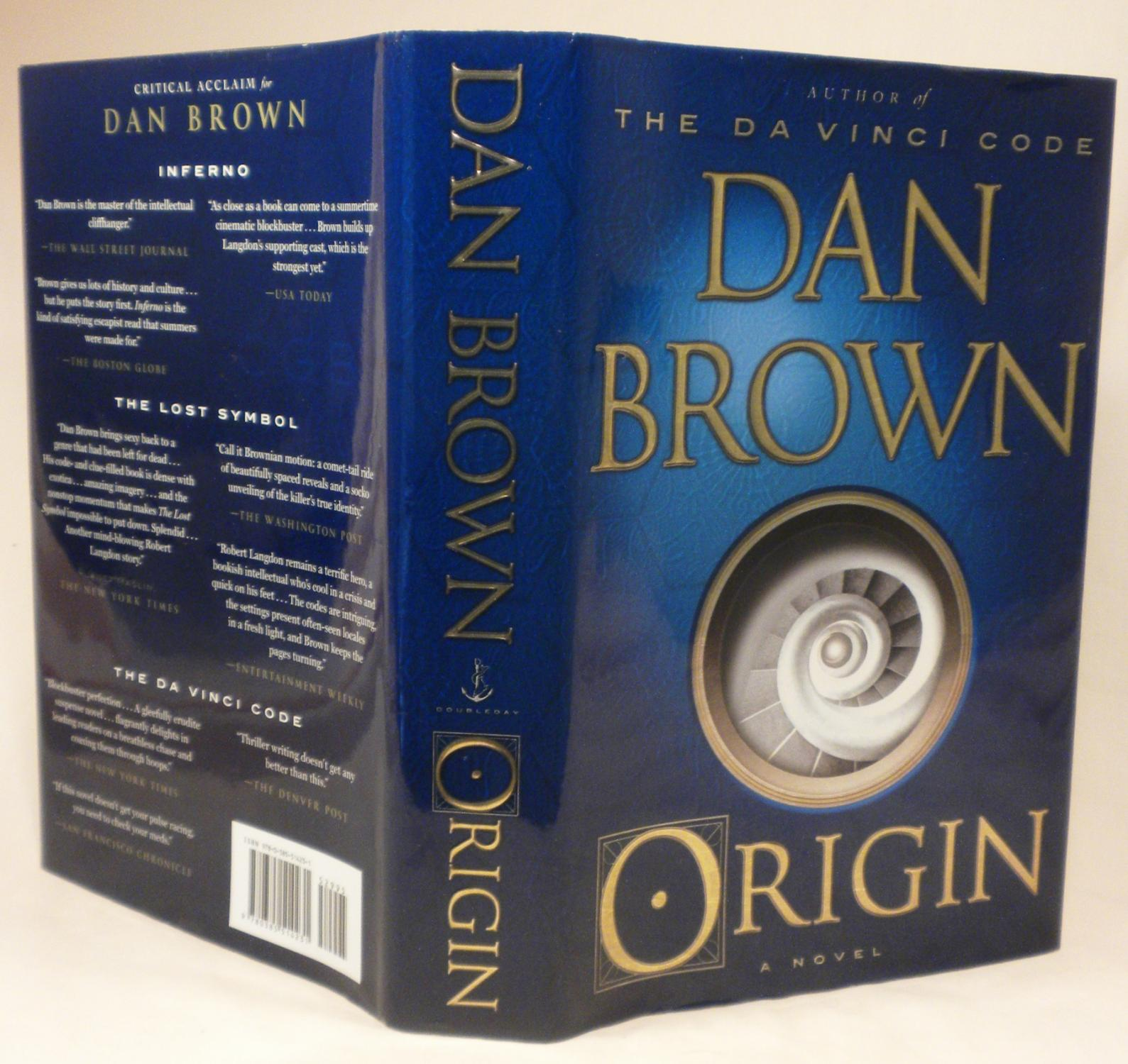 Book Cover Returns To Its Origins In >> Origin By Dan Brown Doubleday 9780385514231 Hardcover 1st Edition