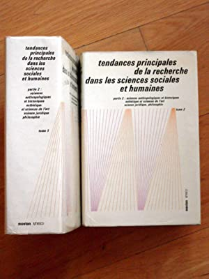 Tendances principales de la recherche dans les sciences sociales et humaines Deuxième Partie...