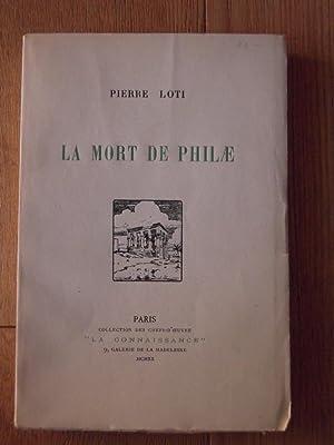 La mort de philae: LOTI PIERRE