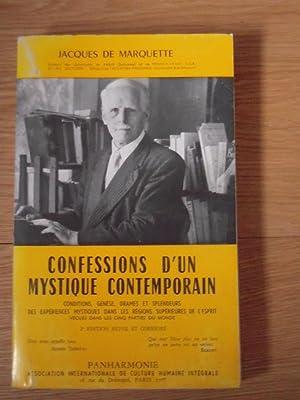 Confessions d'un mystique contemporain: JACQUES DE MARQUETTE
