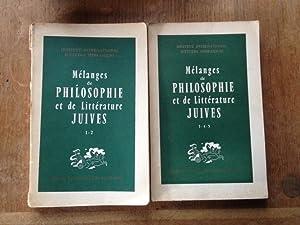mélanges de philosophie et de littérature juives Tomes 1-2 et 3-4-5 (Deux volumes): ...