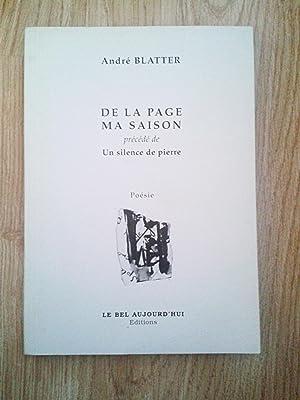 De la page ma saison - précédé: ANDRé BLATTER