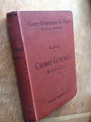 Cours élémentaire de chimie notation atomique. Chimie générale. M&...
