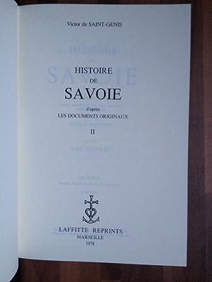 Histoire de Savoie (3 volumes complet): VICTOR DE SAINT-GENIS