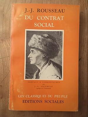 Du contrat social: JEAN-JACQUES ROUSSEAU