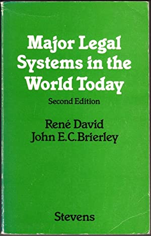 Major Legal Systems in the World Today: David, Rene; Brierley,