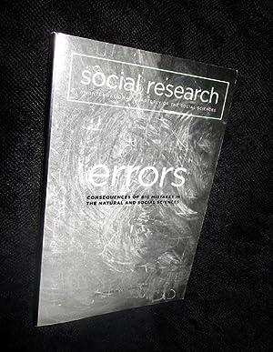 Social Research: An International Quarterly of the: Mack, Arien -Editor