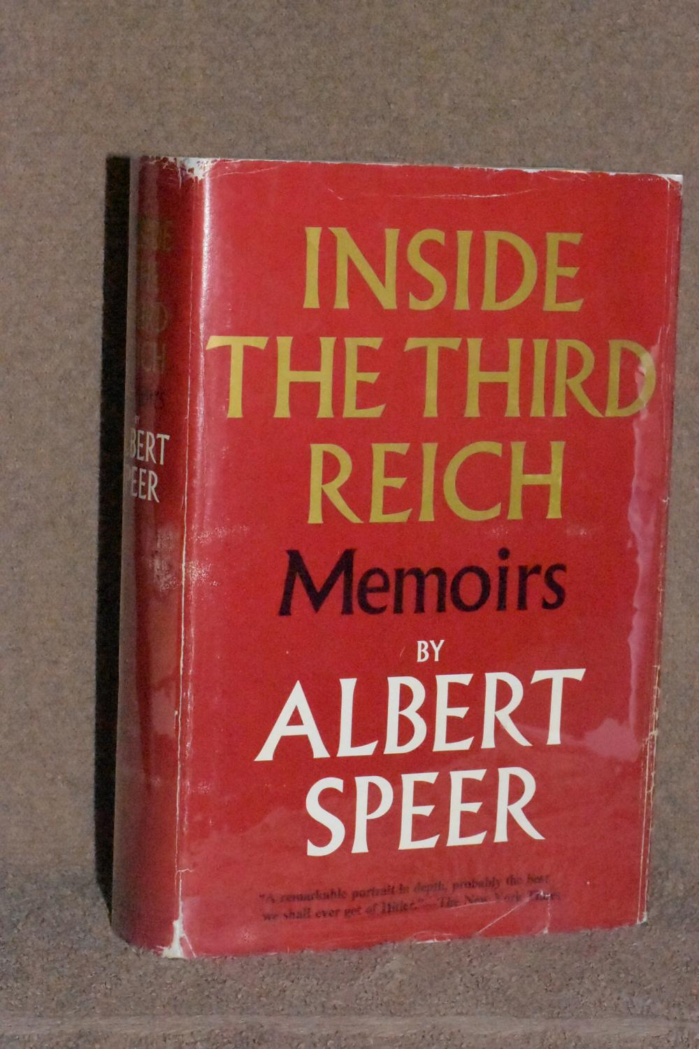 Inside the Third Reich; Memoirs: Albert Speer ...