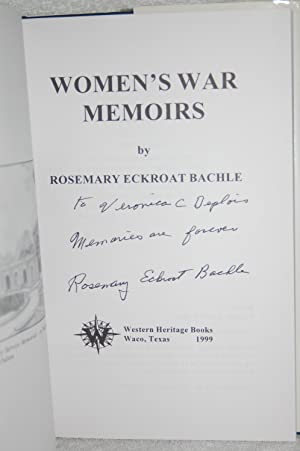 Women's War Memoirs: Rosemary Eckroat Bachle