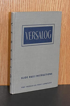 Versalog; Slide Rule Instructions