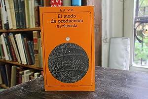 El Modo de Producción Esclavista: P. Petit, F. Vittinghof, E. M. Schtajerman, B. Sharevskaia...