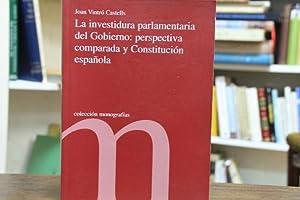 La investidura parlamentaria del Gobierno: prespectiva comparada: Joan Vintró Castells