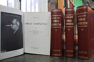 Obras Completas: Manuel Azaña