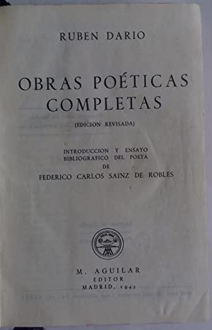 Obras poéticas completas.: DARÍO, Rubén.
