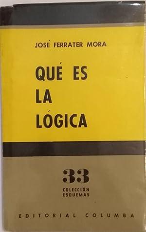 Qué es la lógica.: FERRATER MORA, José.