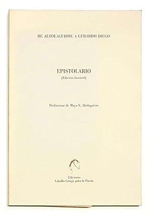 Epistolario: de Altolaguirre a Gerardo Diego.: ALTOLAGUIRRE, Manuel.