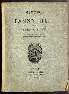 Memoirs of Fanny Hill. A new genuine: Cleland, John.