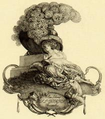 Ex Libris Jos. L. Dirick, Bruxelles.: Bayros, Franz von.