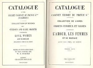 Catalogue du cabinet secret du prince G***: Galitzin].