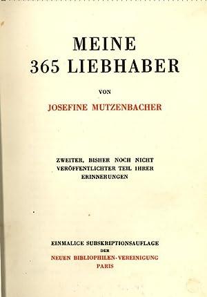 Meine 365 Liebhaber. Zweiter, bisher noch nicht: Mutzenbacher, Josefine.
