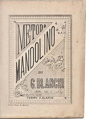 Metodo per mandolino: BLANCHI, Giuseppe (1793ca-1861)