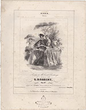 Nizza. Mélodie, paroles de M. Emile Deschamps, musique de G. Rossini