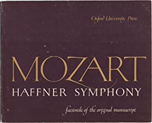 Symphony No. 35 in D, K385, 'Haffner' Symphony. Facsimile of the original manuscript owned by the...
