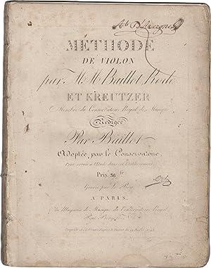 Méthode de Violon par MM. Baillot, Rode,: BAILLOT, Pierre (1771-1842)