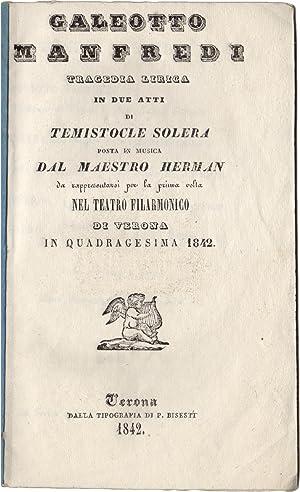 Galeotto Manfredi. Tragedia lirica in due atti: HERMANN, Carlo (pseudonimo