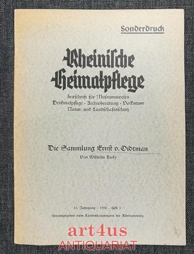 Die Sammlung Ernst von Oidtman in der: Kisky, Wilhelm: