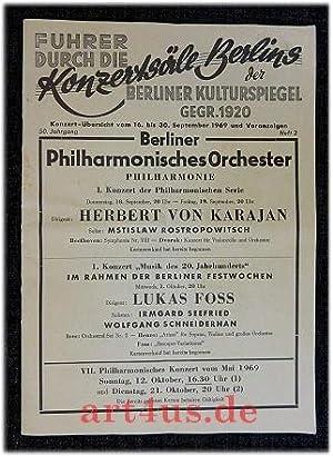 Führer durch die Konzertsäle Berlin : Konzertübersicht: Berliner Konzert- und