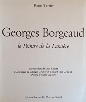 Georges Borgeaud le Peintre de la Lumière: René Terrier