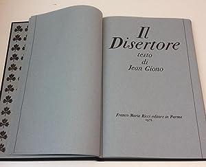 Il Disertore testo di Jean Giono: Jean Giono (texte de, testo di)