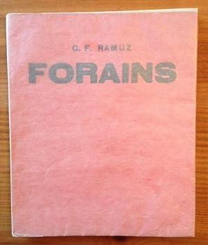 Forains. Avec cinq Lithographies originales par René: Charles Ferdinand RAMUZ