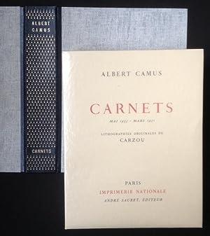 CARNETS Mai 1935 - Mars 1951. Lithographies: Albert CAMUS