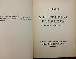 Salutation paysanne et autres morceaux: Charles-Ferdinand Ramuz