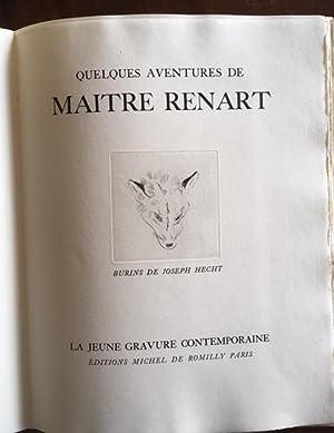 Quelques Aventures de Maître Renart. Burins de: Anonyme, Joseph Hecht