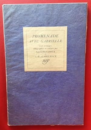 Promenade avec Gabrielle. Manuscrit de Jean GIRAUDOUX: Jean Giraudoux