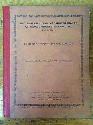 The Sauraseni and Magadhi Stabakas of Rama-Sarman-Tarkavagisa: Grierson George A.