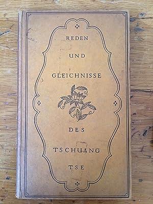 Reden und Gleichnisse des Tschuang Tse: Buber,Martin (trans.)