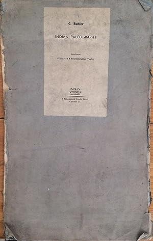 Indian Paleography : 9 plates & 8: Georg Buhler