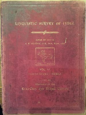 Linguistic Survey of India. Vol. III. Tibeto-Burman: Grierson, G.A. (Collector