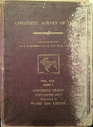 Linguistic Survey of India. Vol. VIII Part: Grierson, G.A. (Collector