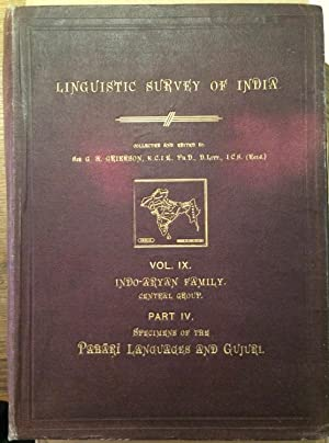 Linguistic Survey of India. Vol. IX Indo-Aryan: Grierson, G.A. (Collector