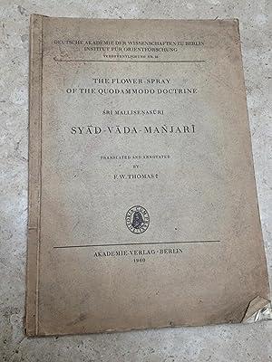 The Flower Spray of the Quodammodo Doctrine.: F.W. Thomas (ed.);